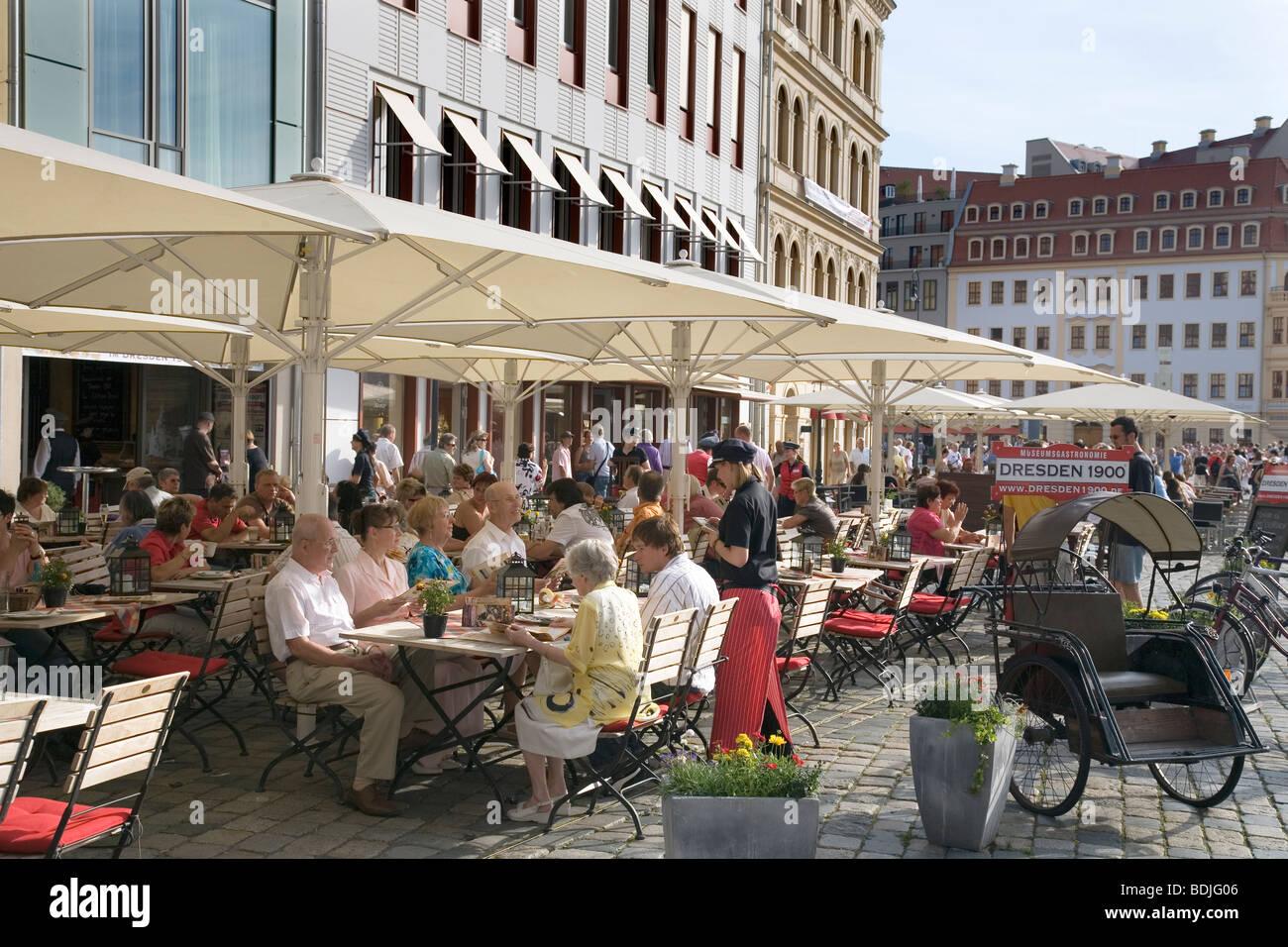 Dresden 1900 Restaurant am Neumarkt, Dresden, Sachsen, Deutschland Stockbild