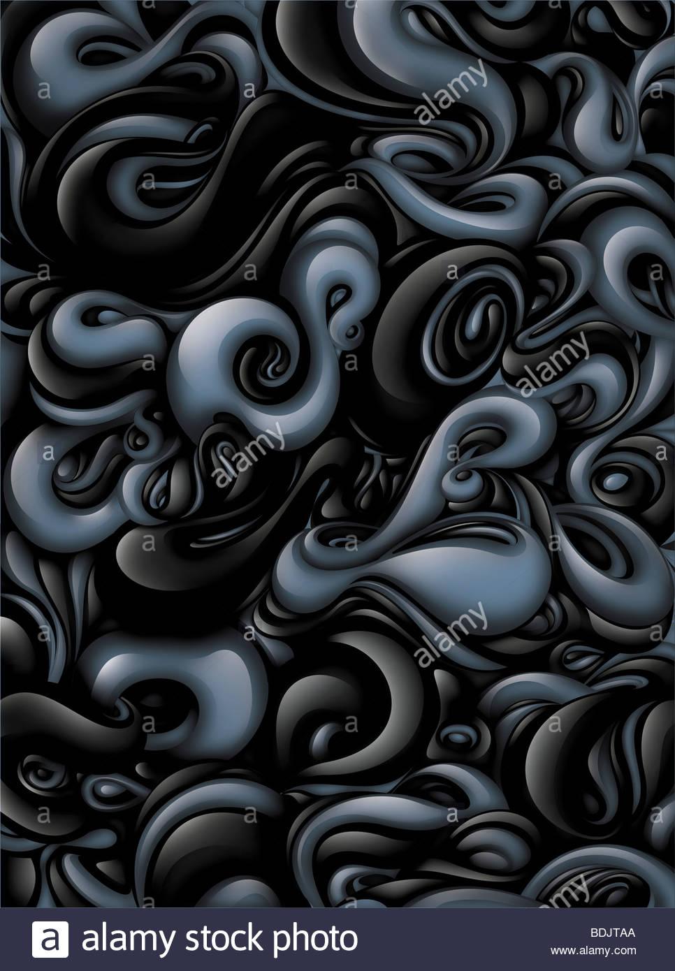 Graue wirbelnden Flüssigkeit Stockbild