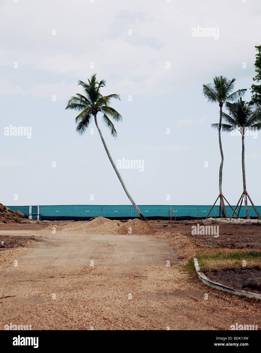 Baustelle in Florida Stockbild