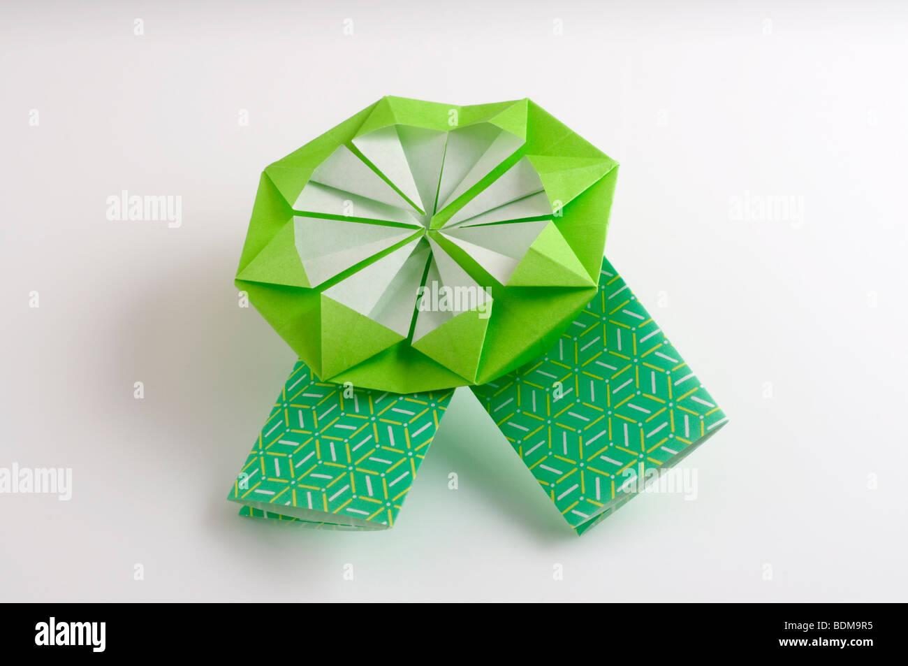 Origami-Band. Stockbild