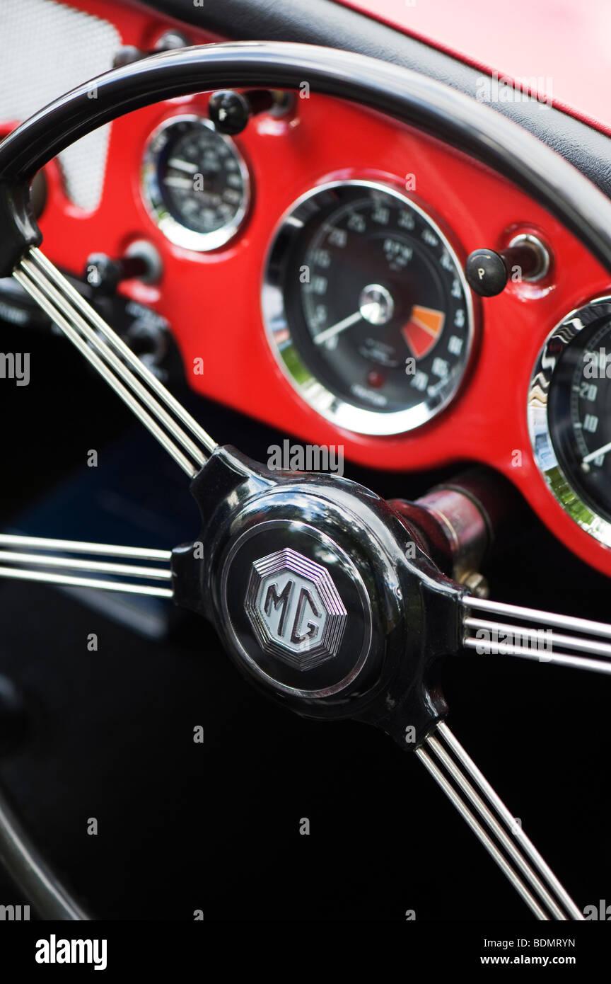 MG MGA 1600 Roadster, britische Oldtimer Stockbild