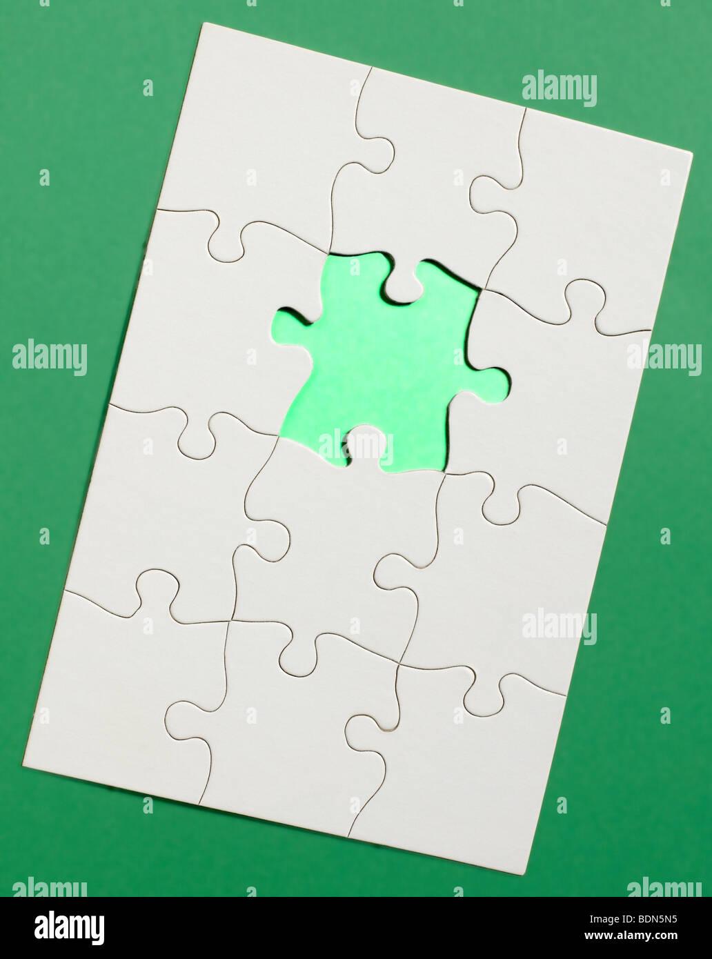 Puzzle vertikale Stockfoto