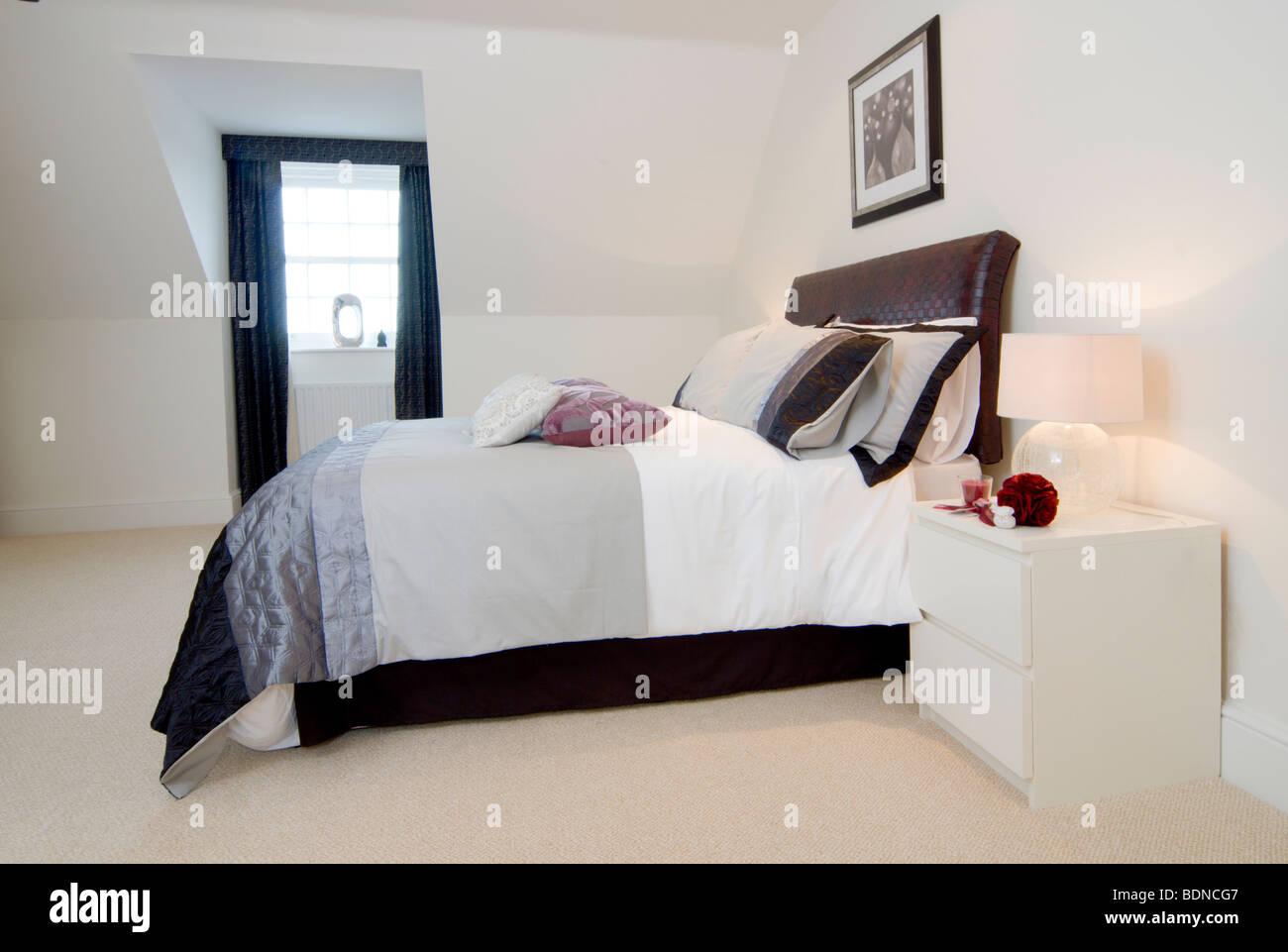 New Show Home Bedroom Stockfotos & New Show Home Bedroom Bilder - Alamy