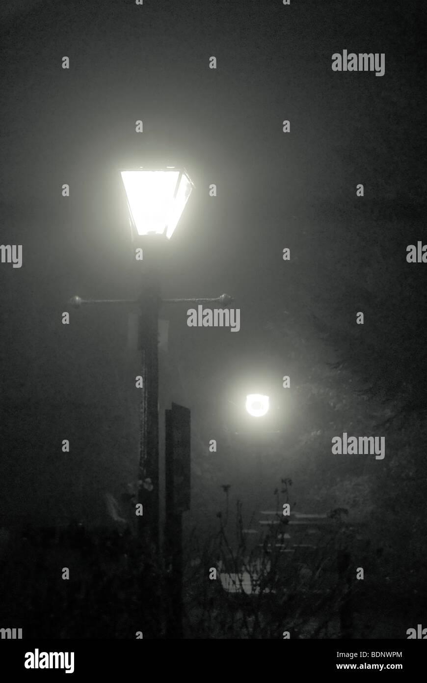 alte Straße Licht Stockfoto