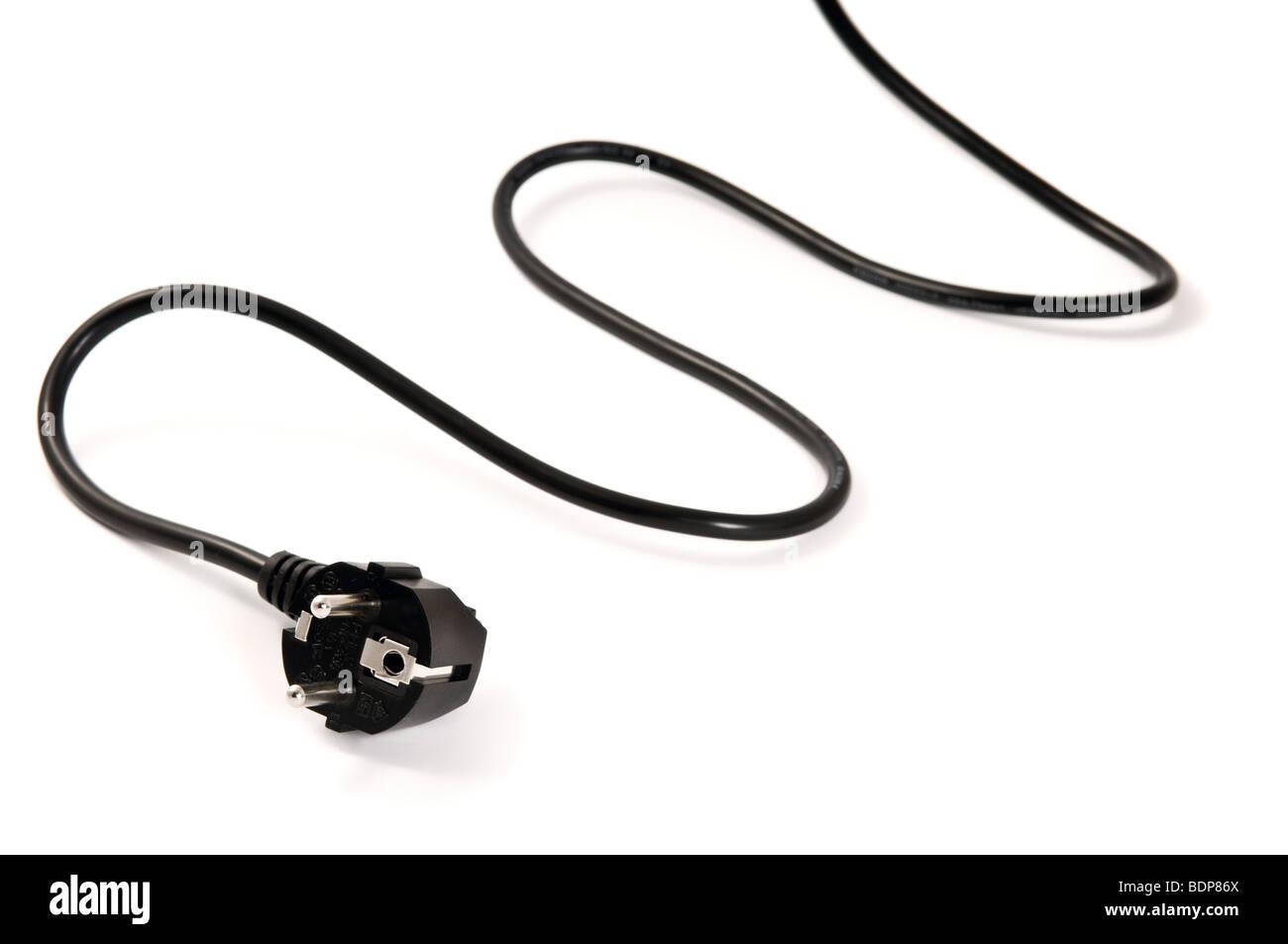elektrische Stecker - Nahaufnahme Blick Netzkabel Stockbild