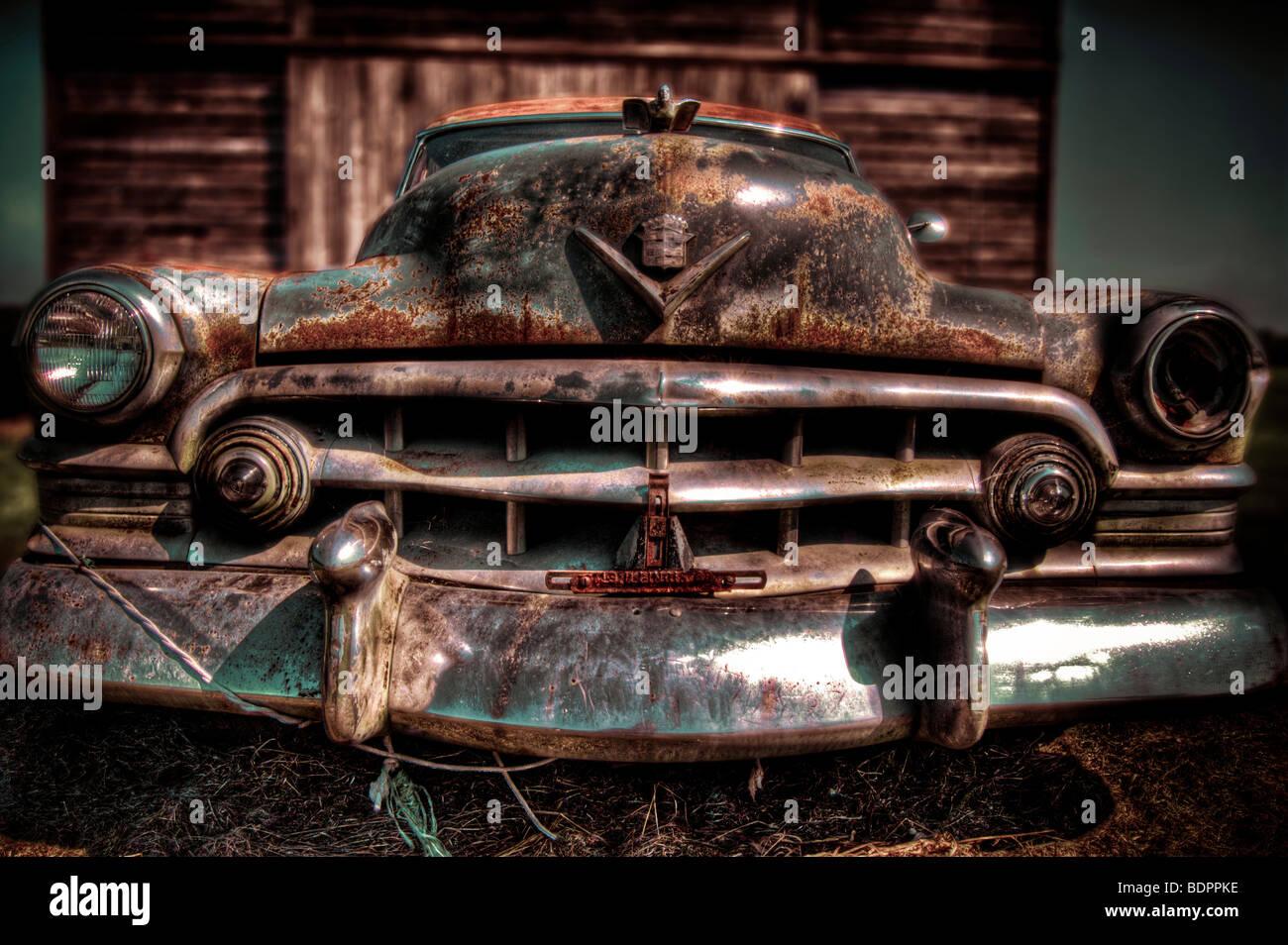 Beliebt Ein 50er Jahre amerikanische Cadilac Auto mit Rost und Chrom NK66