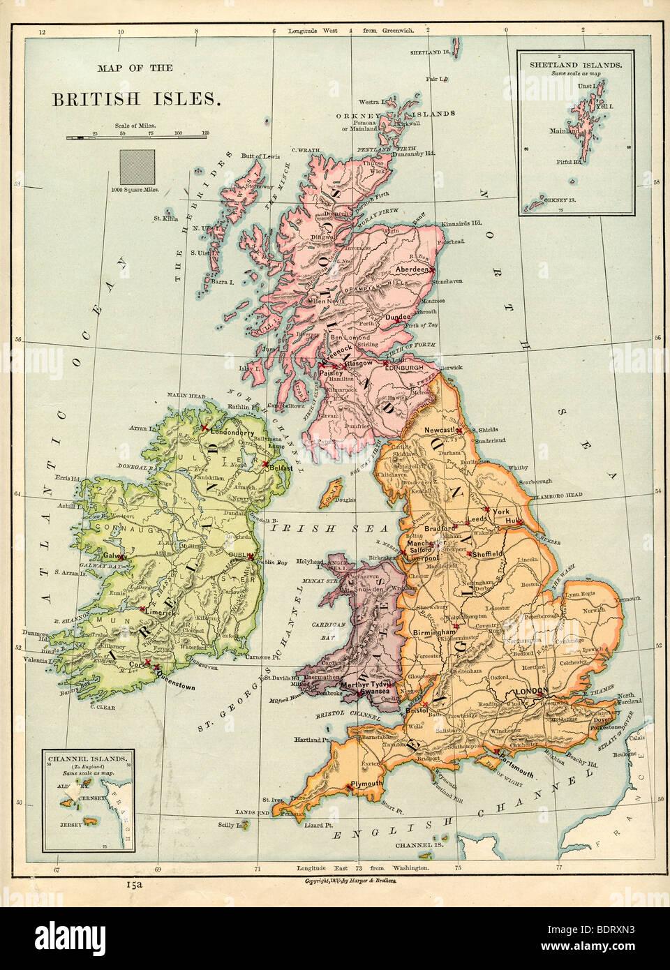 Map Great Britain Stockfotos & Map Great Britain Bilder - Alamy