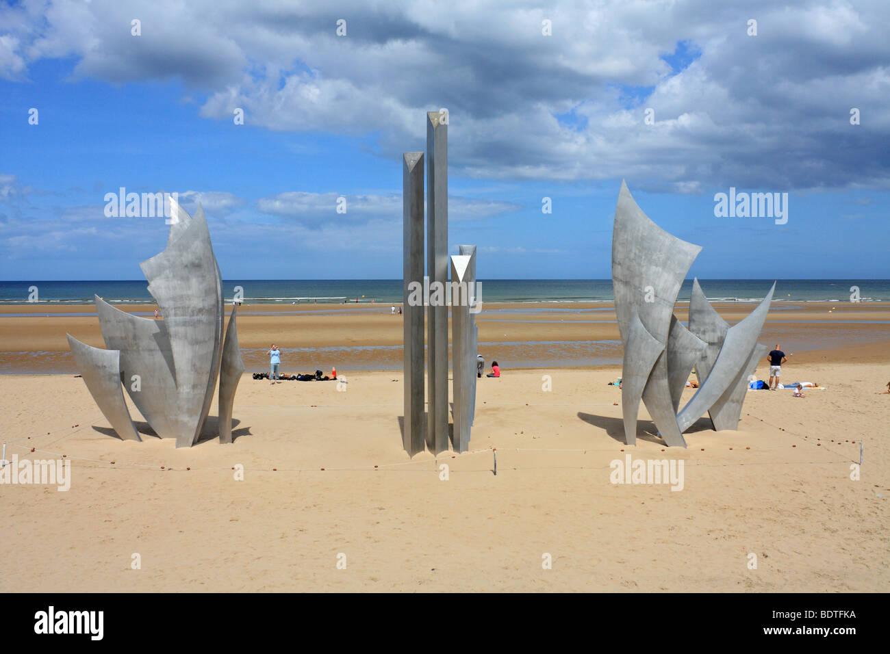 Kriegerdenkmal Am Omaha Beach Eine Alliierte Landung Strand Für D