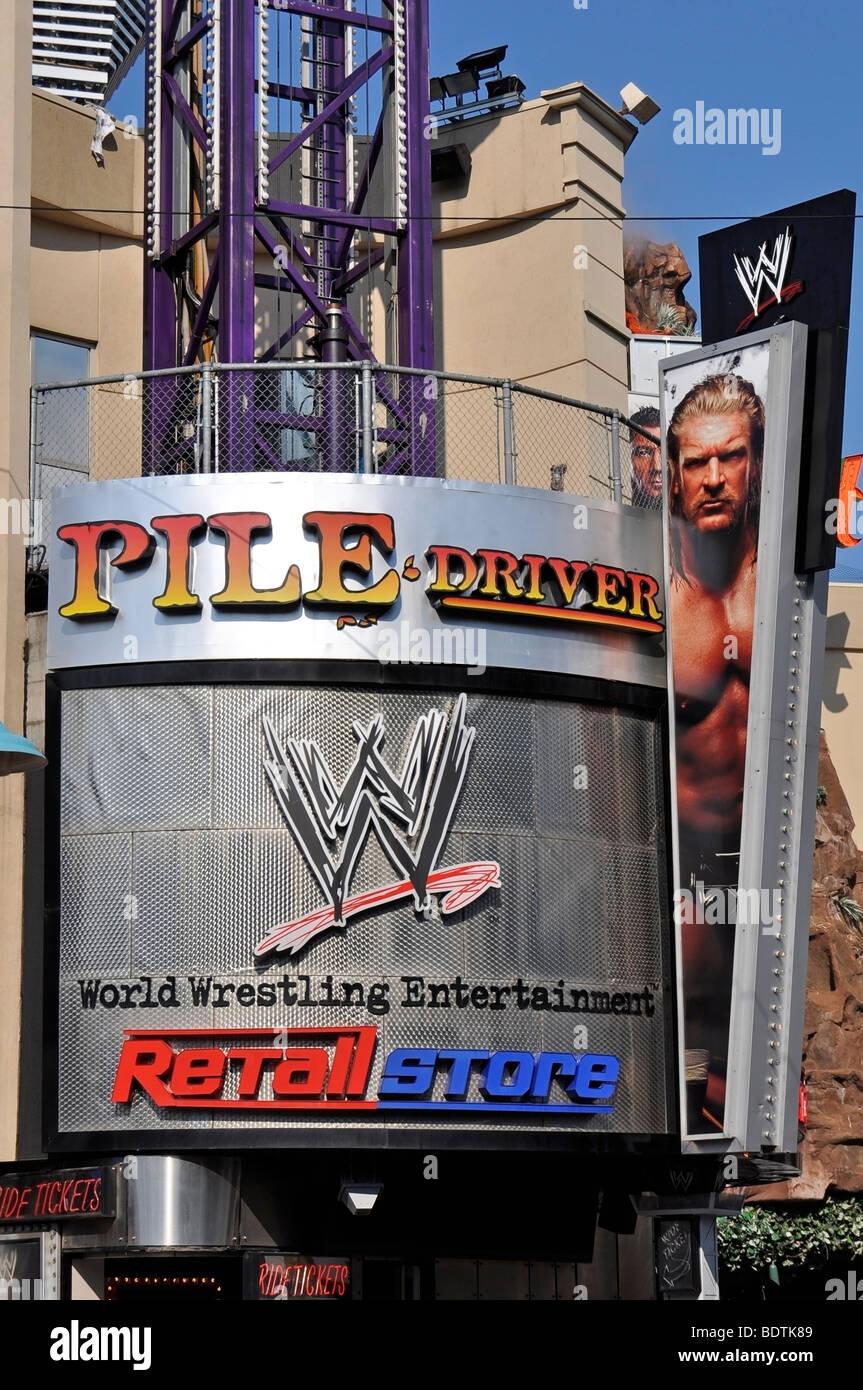 WWE (World Wrestling Entertainement) - Attraktionen auf dem Clifton Hill, Niagara, Kanada Stockfoto