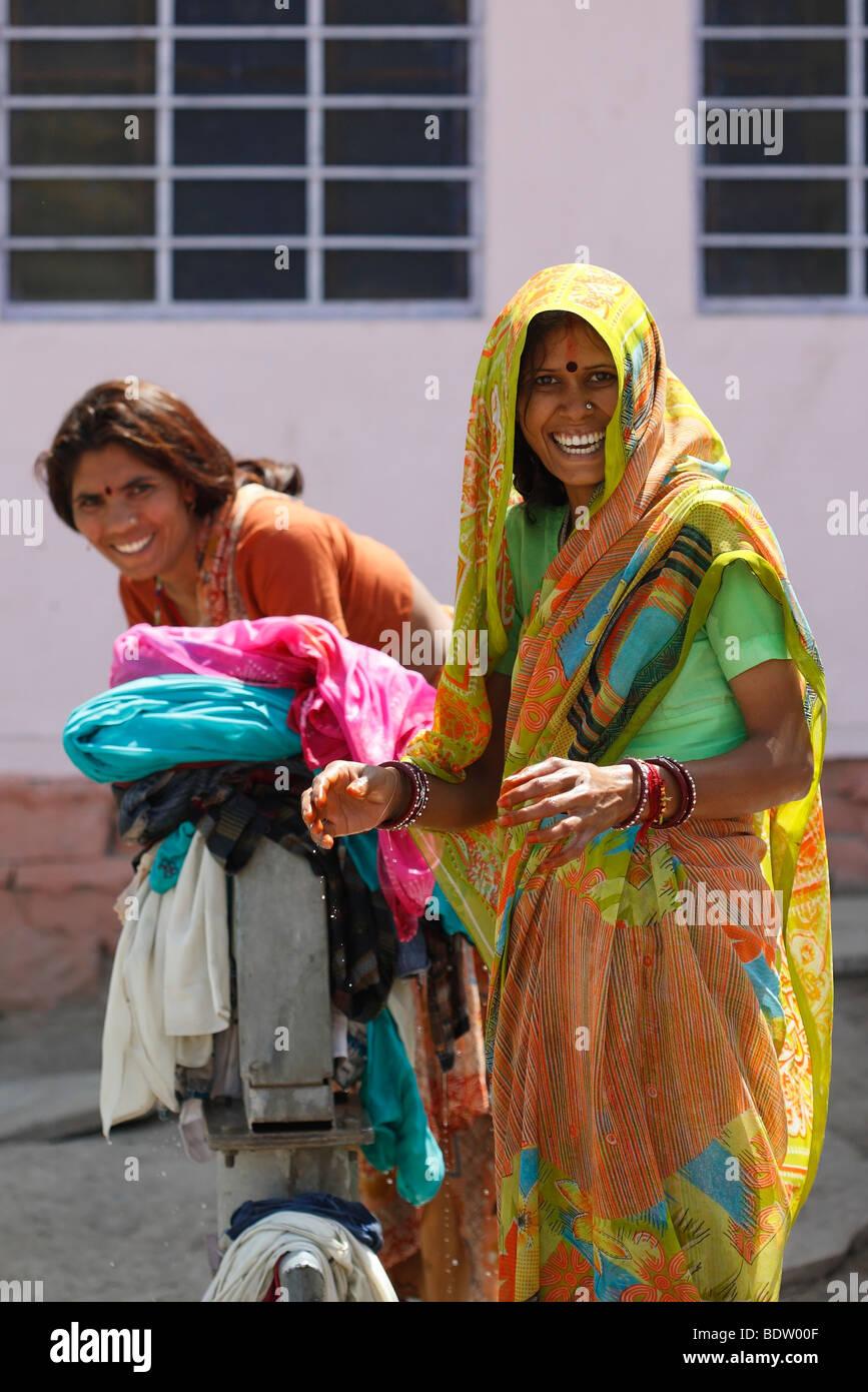 Rajasthanis in Rajasthan, Indien, Indien Stockbild