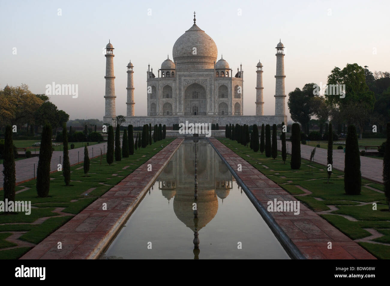 Taj Mahal, Weltberuehmtes Mausoleum in Agra, Indien, Indien Stockbild