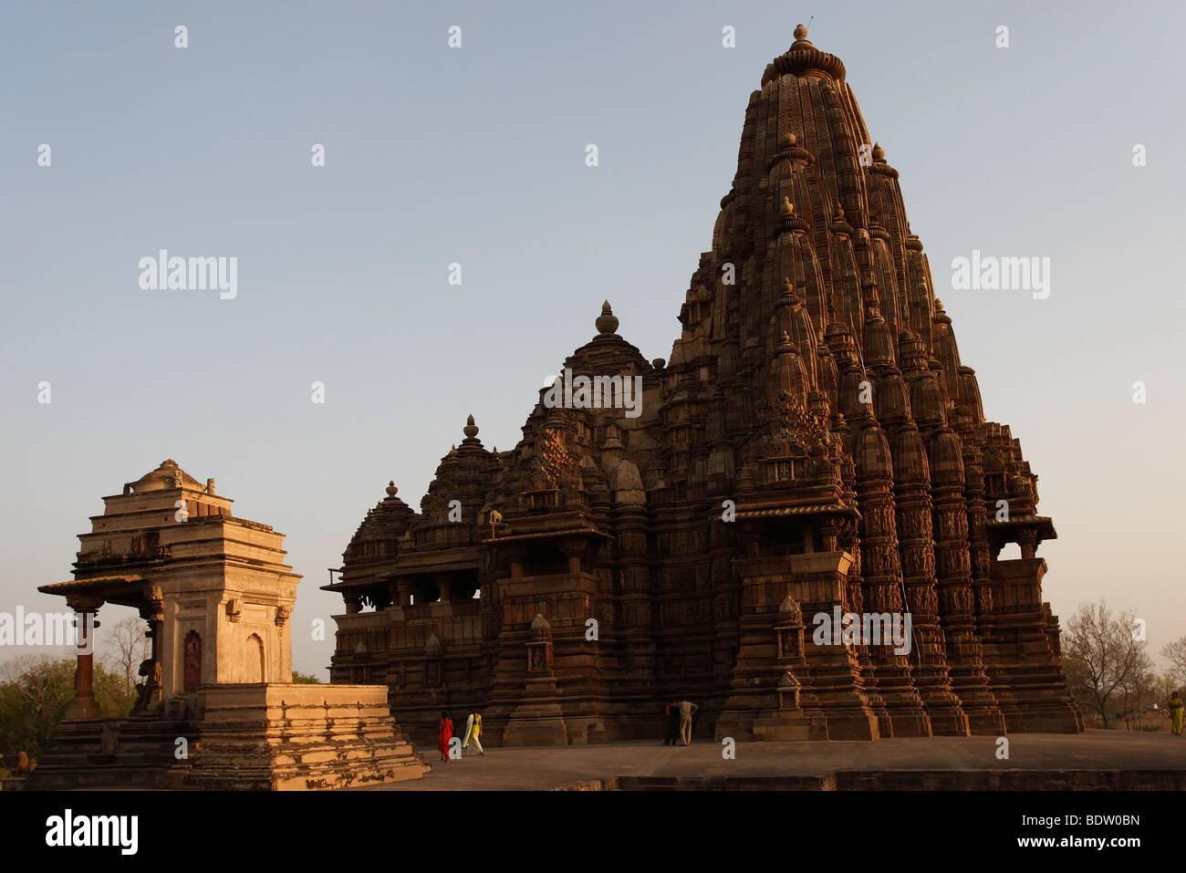 Tempel von Khajuraho, Indien, Tempel in Indien, Stockbild