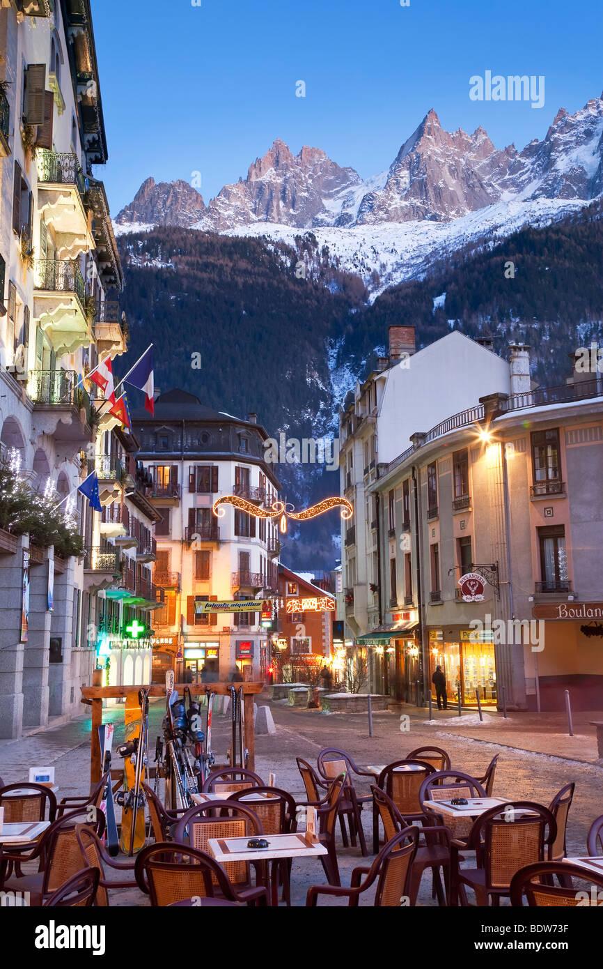 Chamonix-Mont-Blanc, Französische Alpen, Haute Savoie, Chamonix, Frankreich Stockfoto