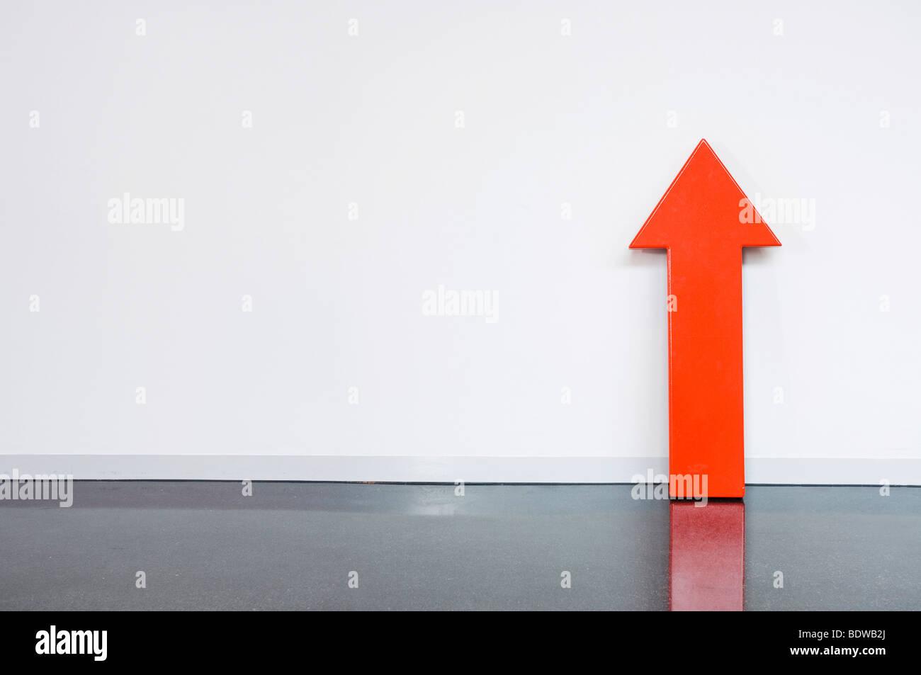 Roter Pfeil Stockbild