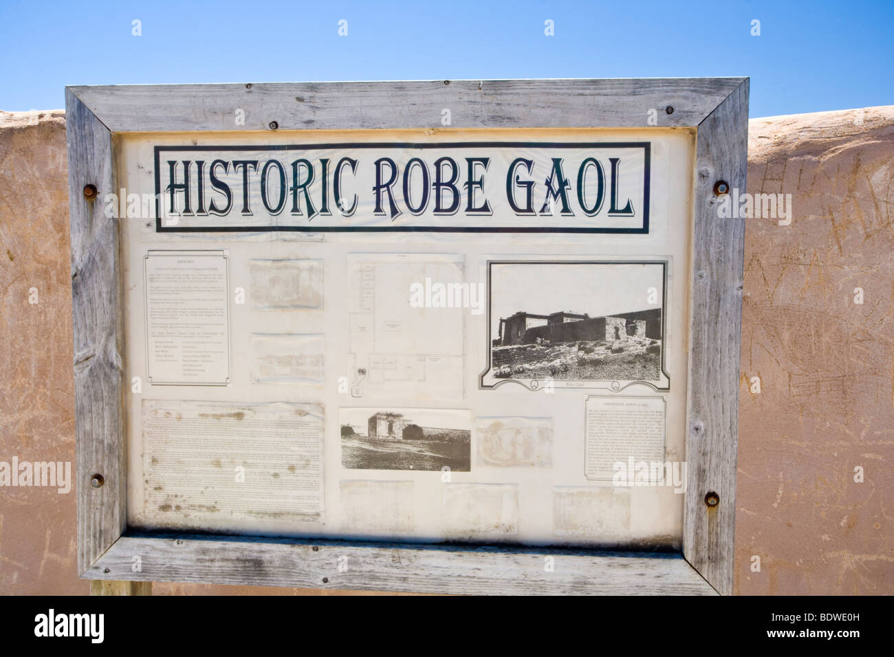 Die historischen Gewand Gaol, Südaustralien Stockbild