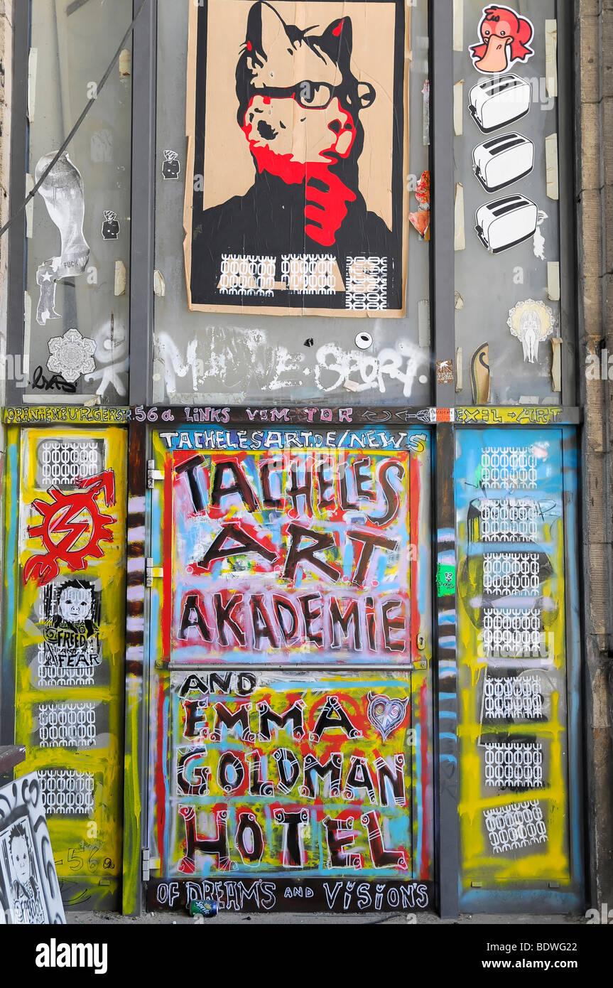Graffiti, Tacheles, die Bundeshauptstadt Berlin, Deutschland, Europa Stockbild