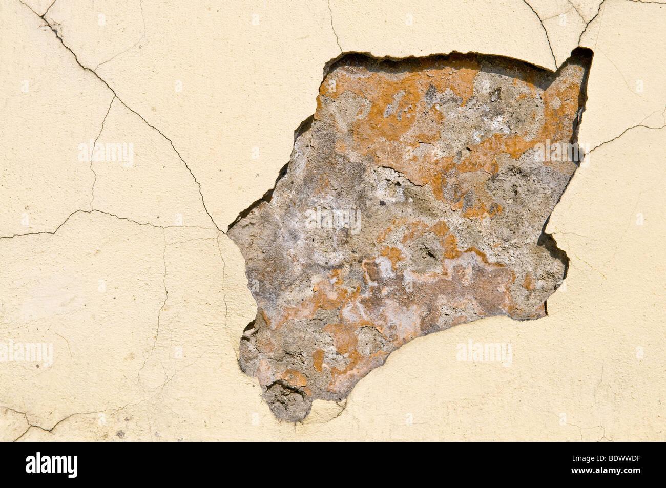 alten verfallenden Wandbeschaffenheit oder Hintergrund Stockbild