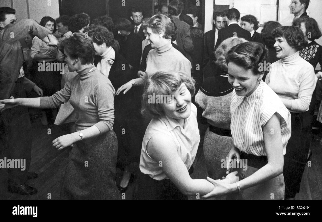 SOUTH LONDON TEENAGE CLUB 1957 Stockfoto