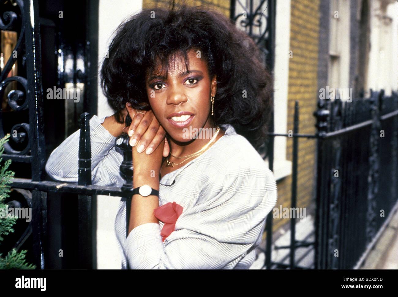 JAKI GRAHAM - UK-Pop-Sängerin im Jahr 1985 Stockbild