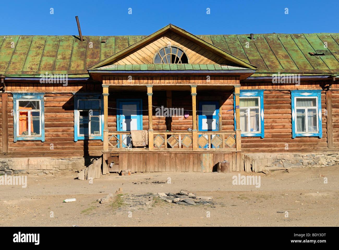 Russische Blockhäuser historische russische blockhaus an der russisch mongolischen