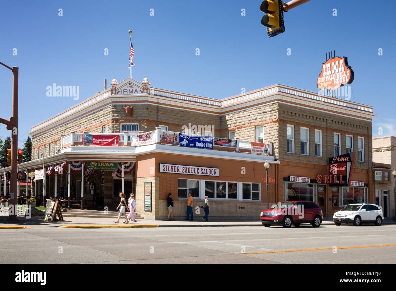 Irma Hotel Cody, Wyoming Stockbild