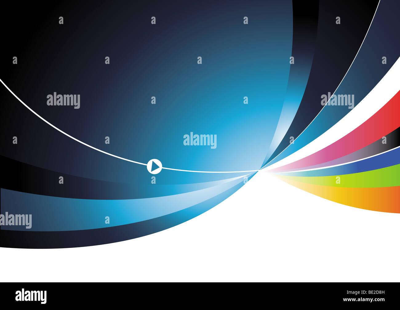 Fließende abstrakten Hintergrund mit einer Farbe Injektion! Stockbild