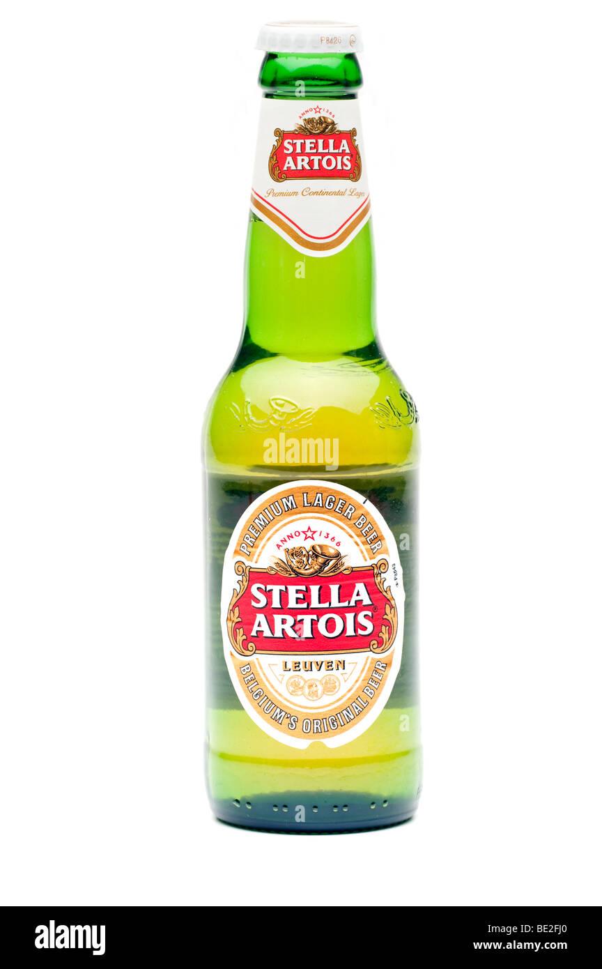 Eine Flasche von Stella Artois Lagerbier Stockbild