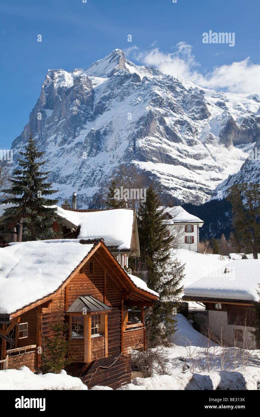 Wetterhorn Berg (3692m), Grindelwald, Jungfrauregion, Berner Oberland, Schweizer Alpen, Schweiz Stockbild