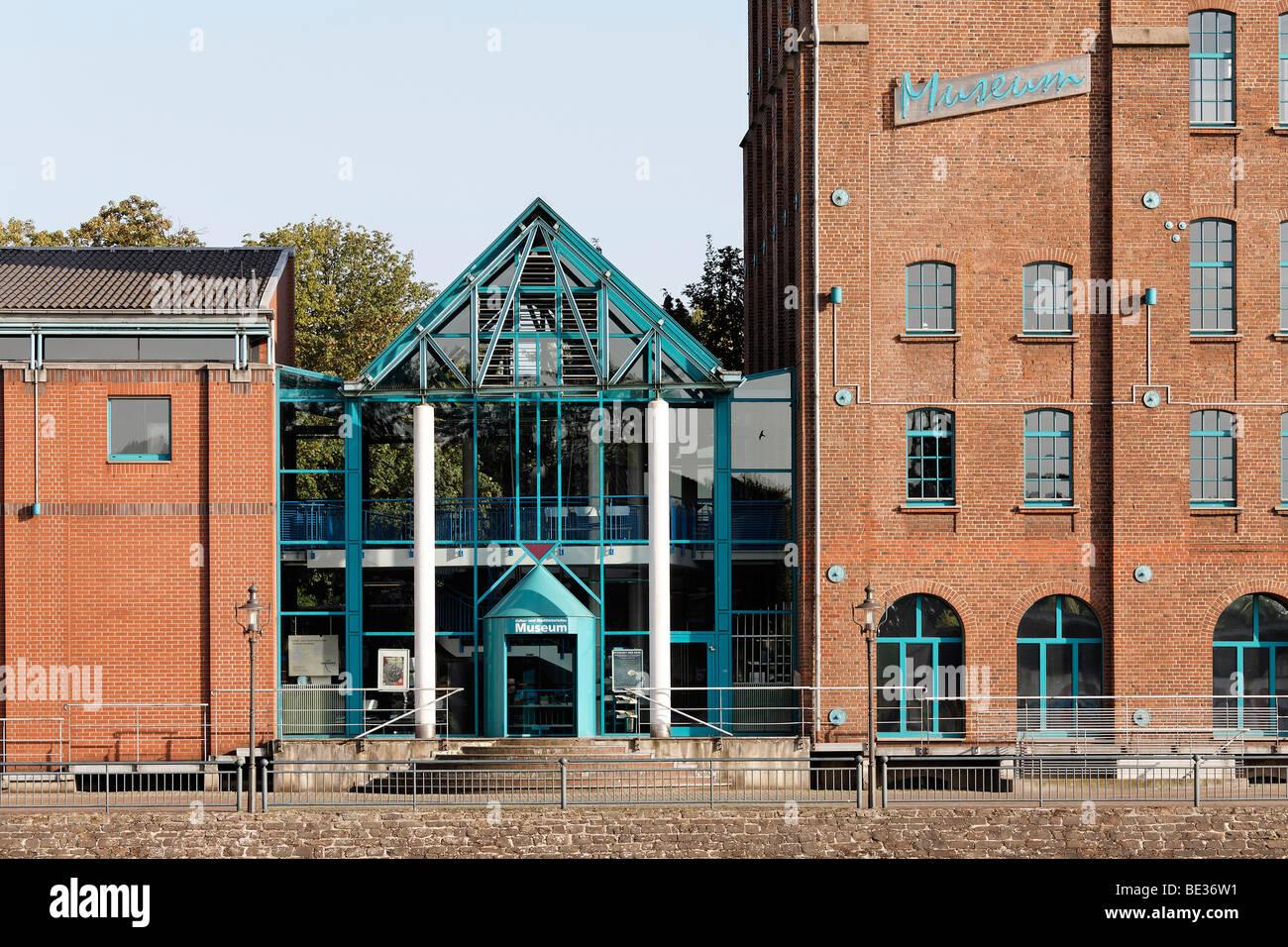 Kultur Und Stadthistorisches Museum kulturelle und historische Museum der Stadt, ehemalige Lagerhalle, Innenhafen, Stockbild