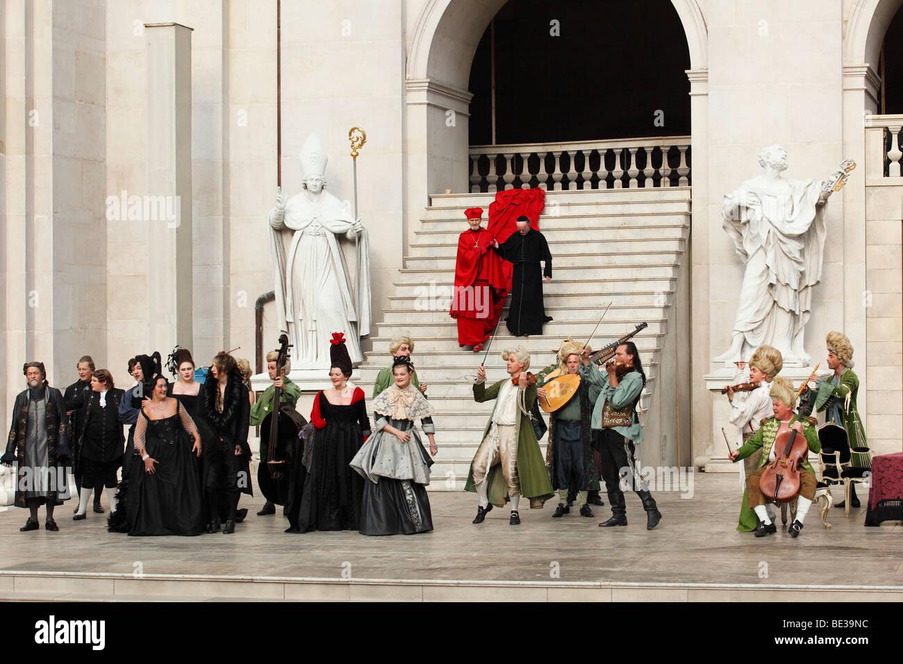 Jedermann, jedermann, spielen 2009, von Hugo von Hofmannsthal, Salzburger Festspiele, Salzburg, Österreich, Stockbild