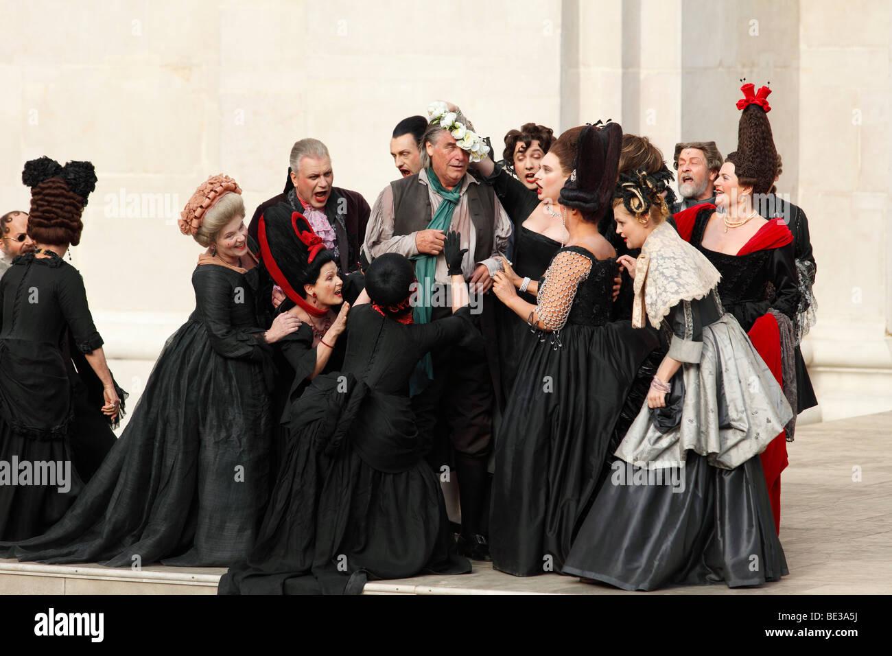 Jedermann, jedermann, spielen 2009, gespielt von Peter Simonischek, von Hugo von Hofmannsthal, Salzburger Festspiele, Stockbild