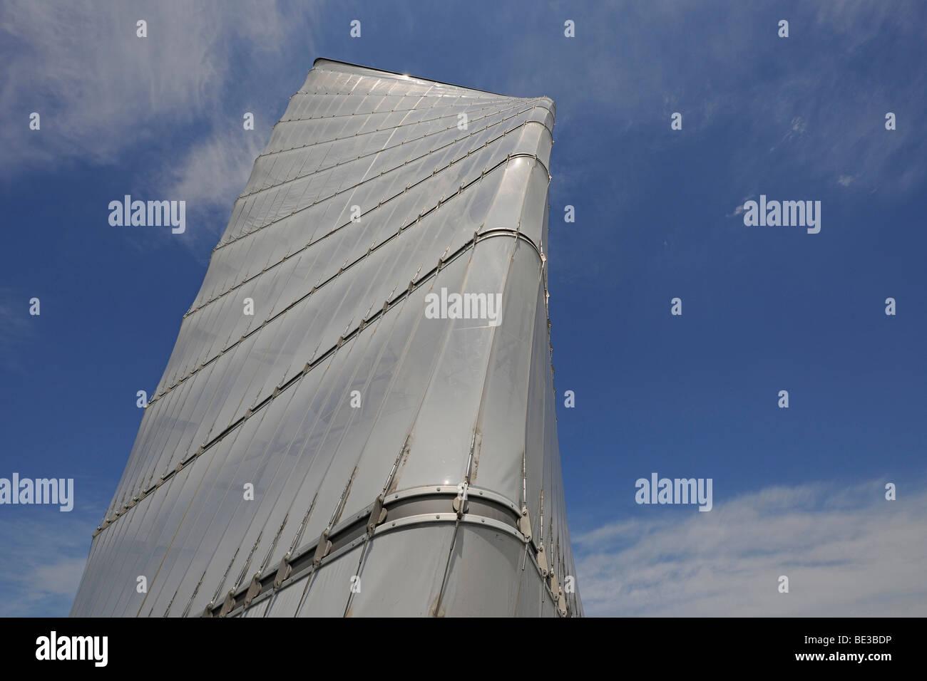 Info-Turm von der Baustelle des neuen großen BBI Flughafen Berlin Brandenburg International, Hauptterminal, Stockbild