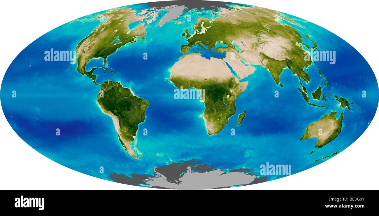 Durchschnittliche Wachstum der Erde. Stockbild
