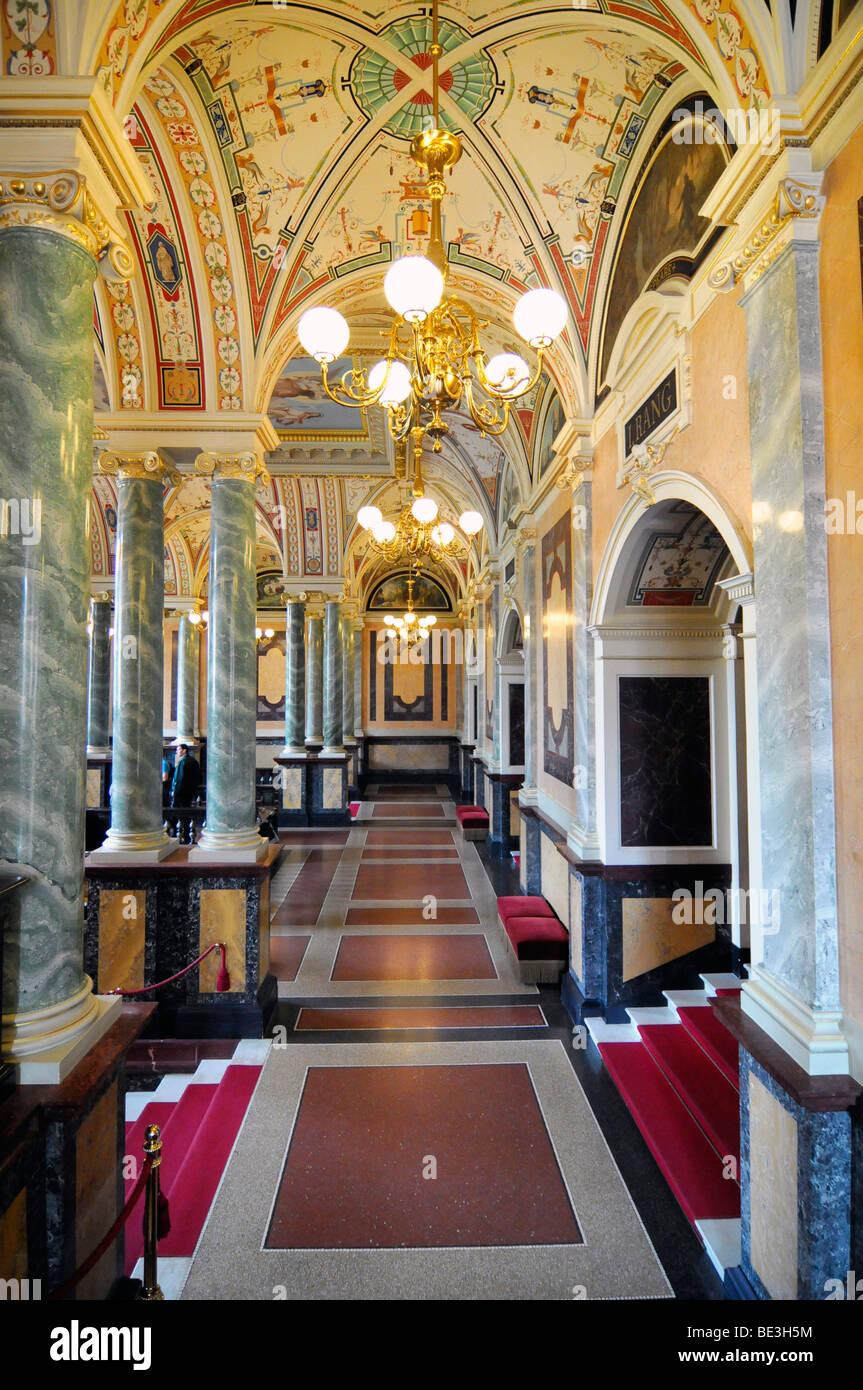 Innenarchitektur, Opernhaus Semperoper, Dresden, Sachsen ...