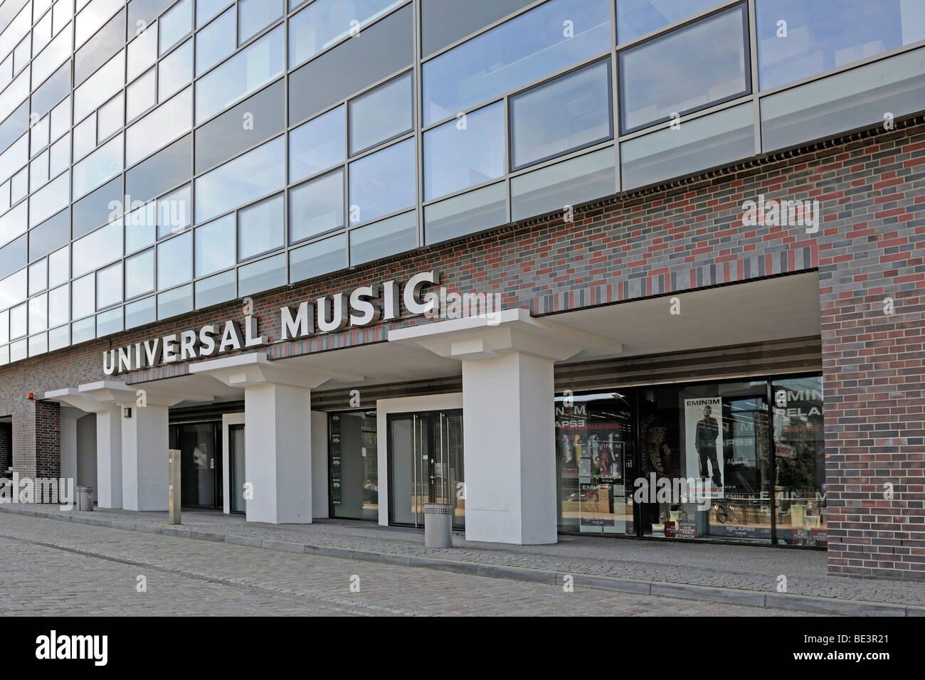 Gebäude von Universal Music in Berlin, Deutschland, Europa Stockfoto