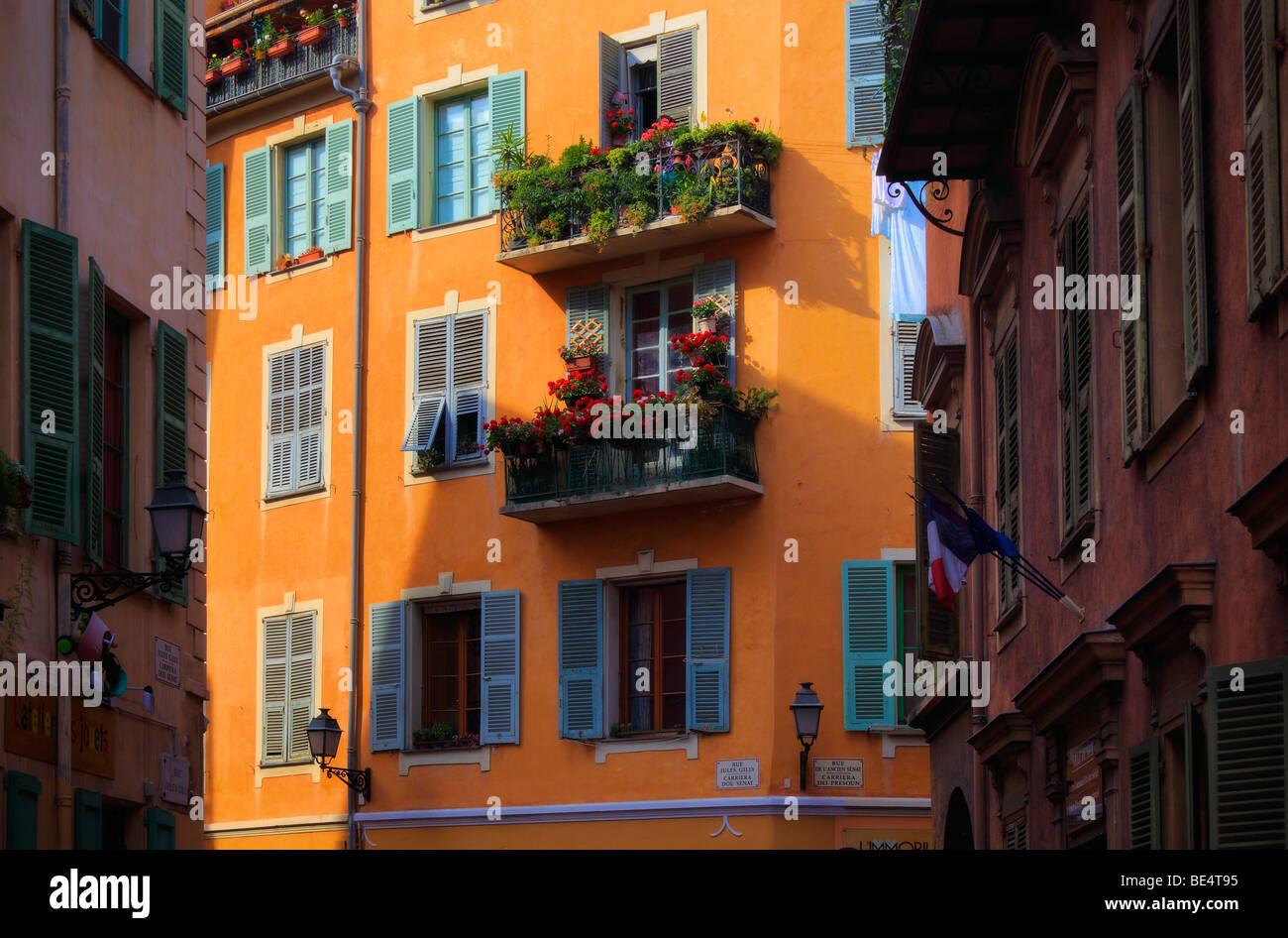 Vielle Ville (Altstadt) Teil von Nizza, Frankreich Stockbild
