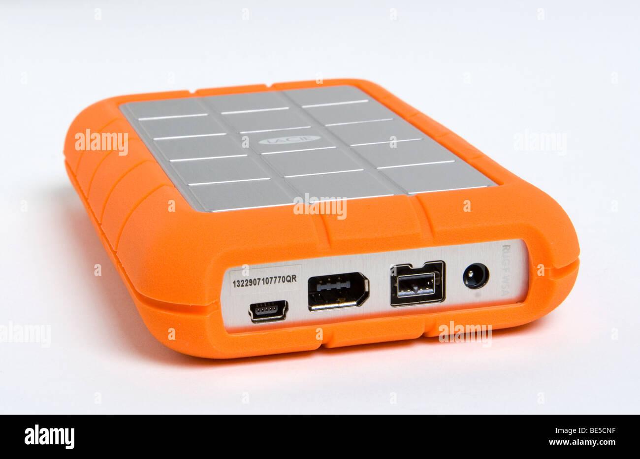 LaCie Rugged 1TB externe Festplatte mit FireWire 400, FireWire 800 ...