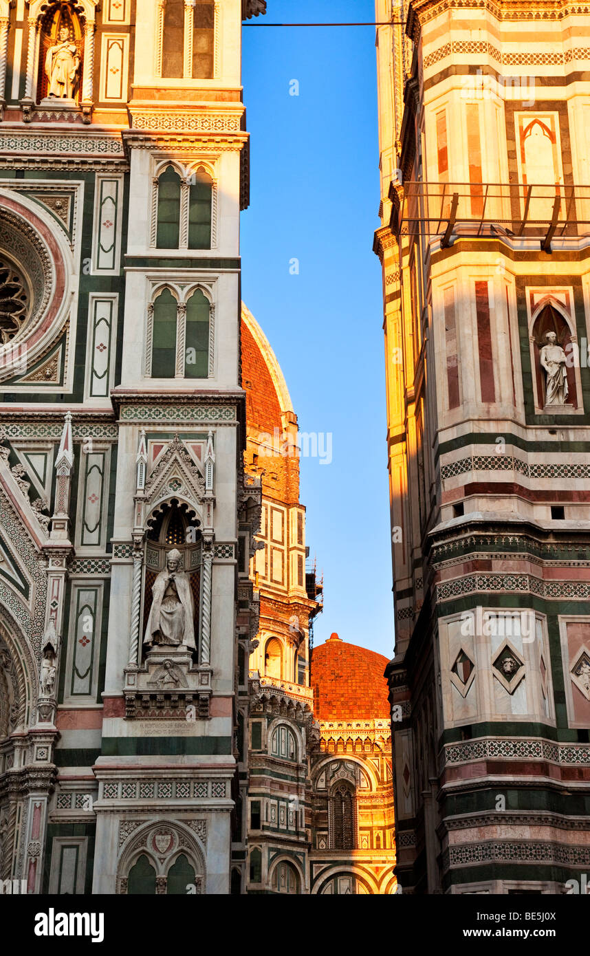 Abend am Duomo in Florenz Toskana Italien Stockbild