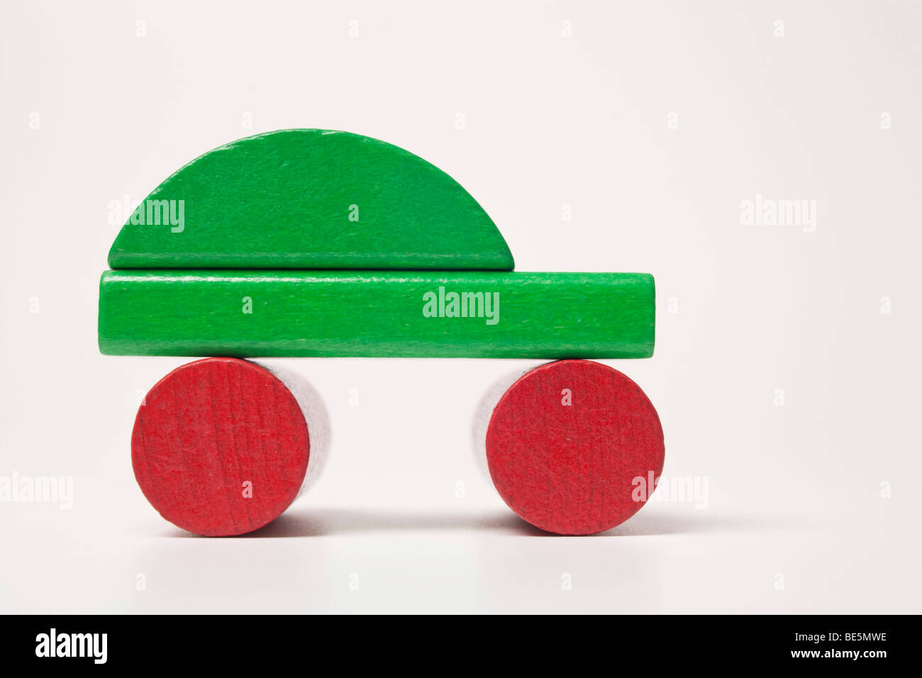 Green Car, aus Bauklötzen Stockbild