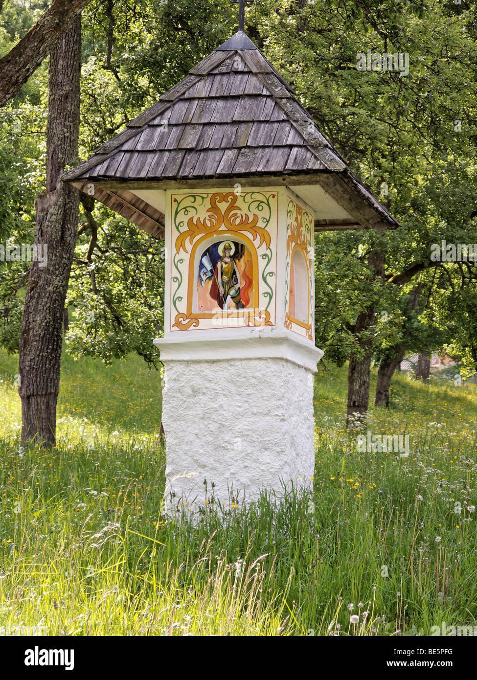 Bildstock in der Nähe von Gorenjska Kupljenik, in der Nähe von Bled, Slowenien Stockbild