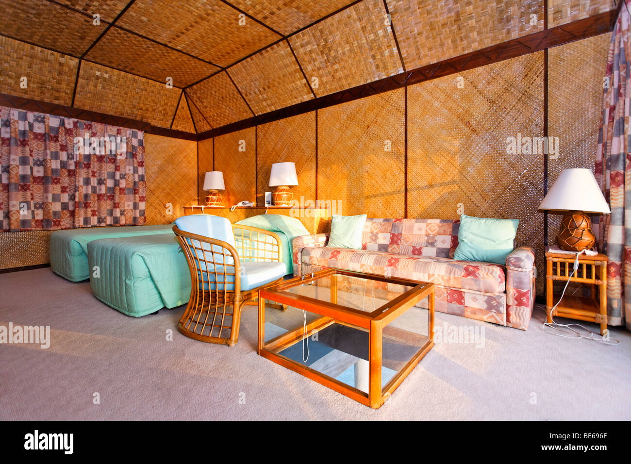 Wasser-Bungalow, Interieur, Vadoo, Insel, Süd Male Atoll, Malediven ...