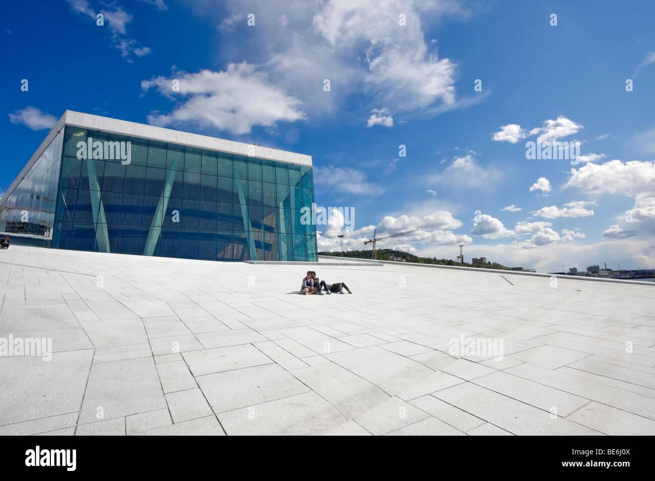Der Teppich Eine Schrage Stein Rampe Auf Das Dach Des Osloer
