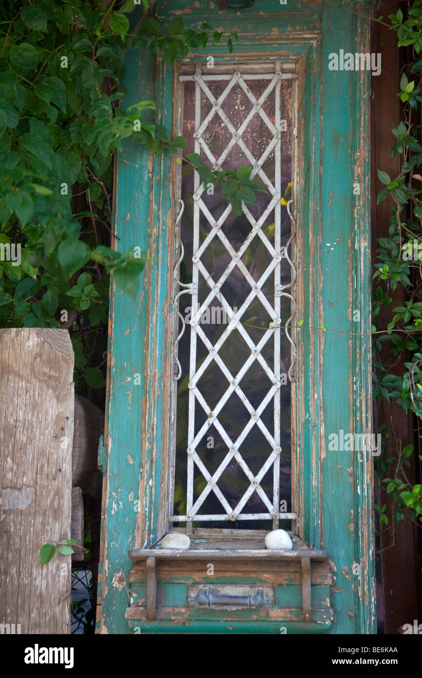 Traditionelle Alte Tür Als Dekoration In Skiathos Griechenland