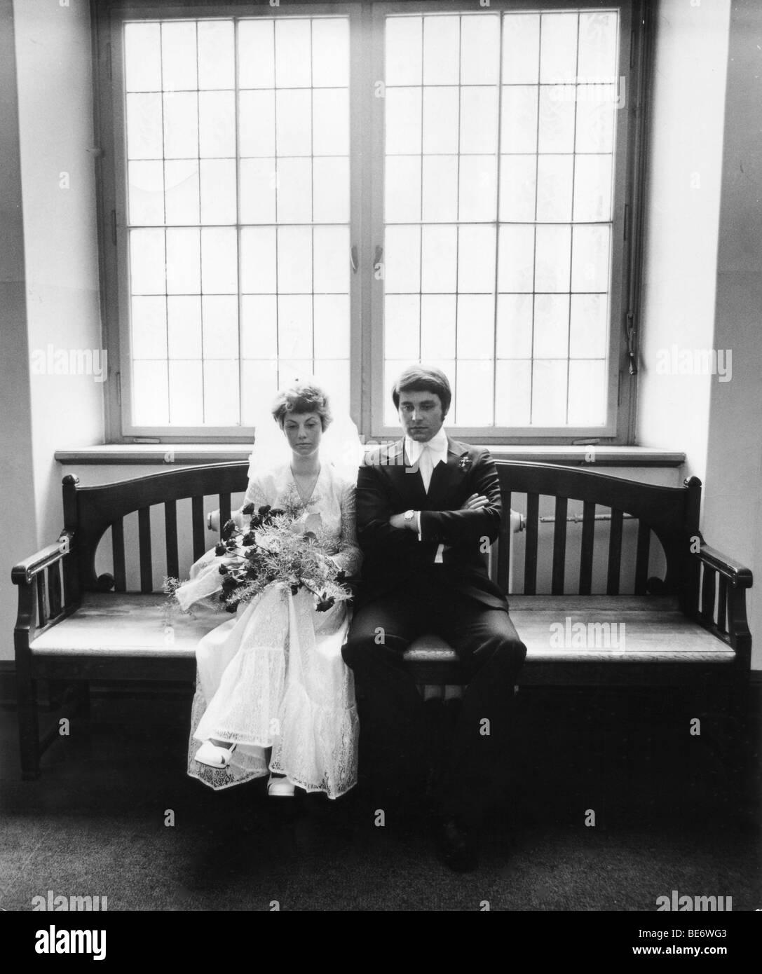 Nachdenklich Hochzeit Paar Foto Leipzig Ddr Historische 1975
