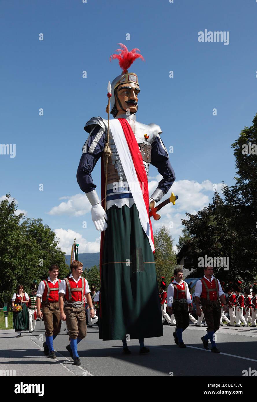 Samson, Samson-Parade in Mariapfarr, Lungau, Salzburg, Salzburg, Österreich, Europa Stockbild