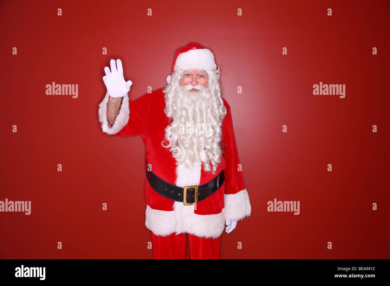 Santa Claus winken Stockbild