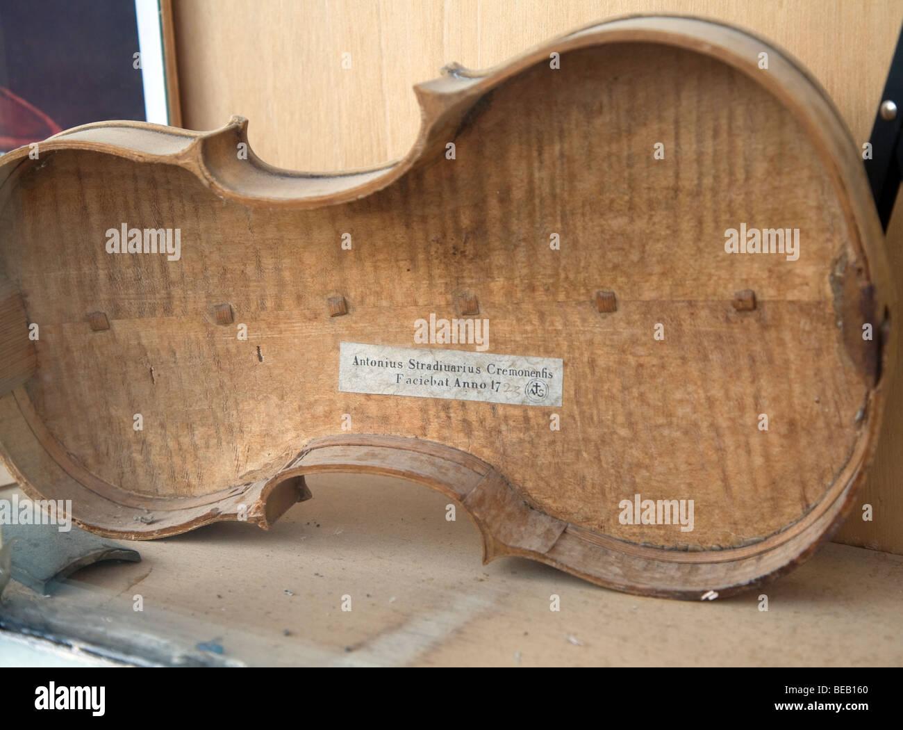 Stradivari Violine Gehäuse Stockbild