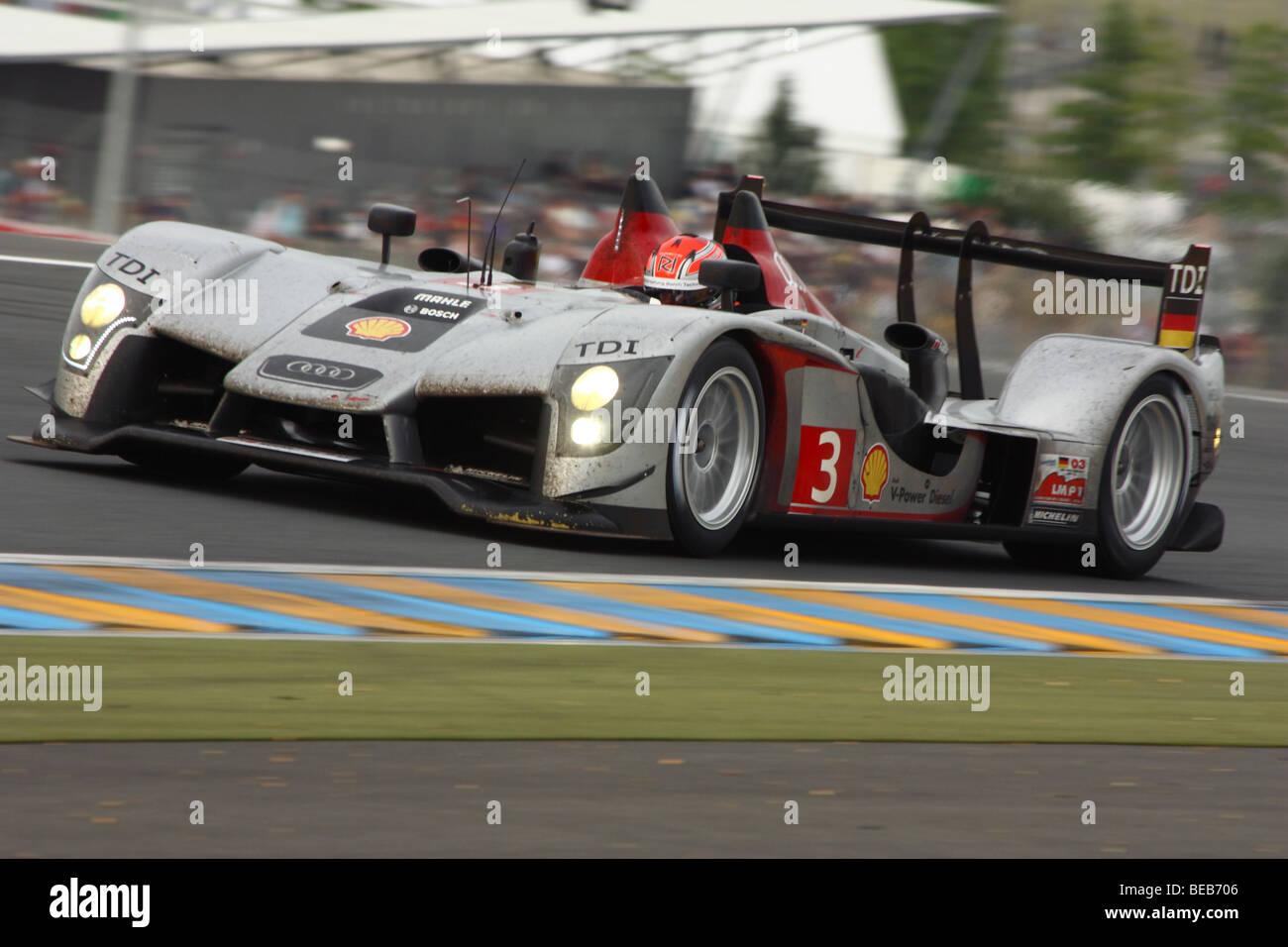 24 Stunden von Le Mans 2009 - Audi R15 TDI N ° 3 Stockbild