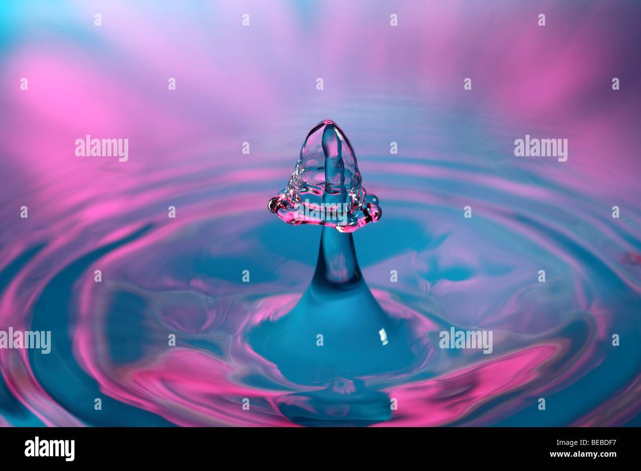 Wasser tropft Stockbild