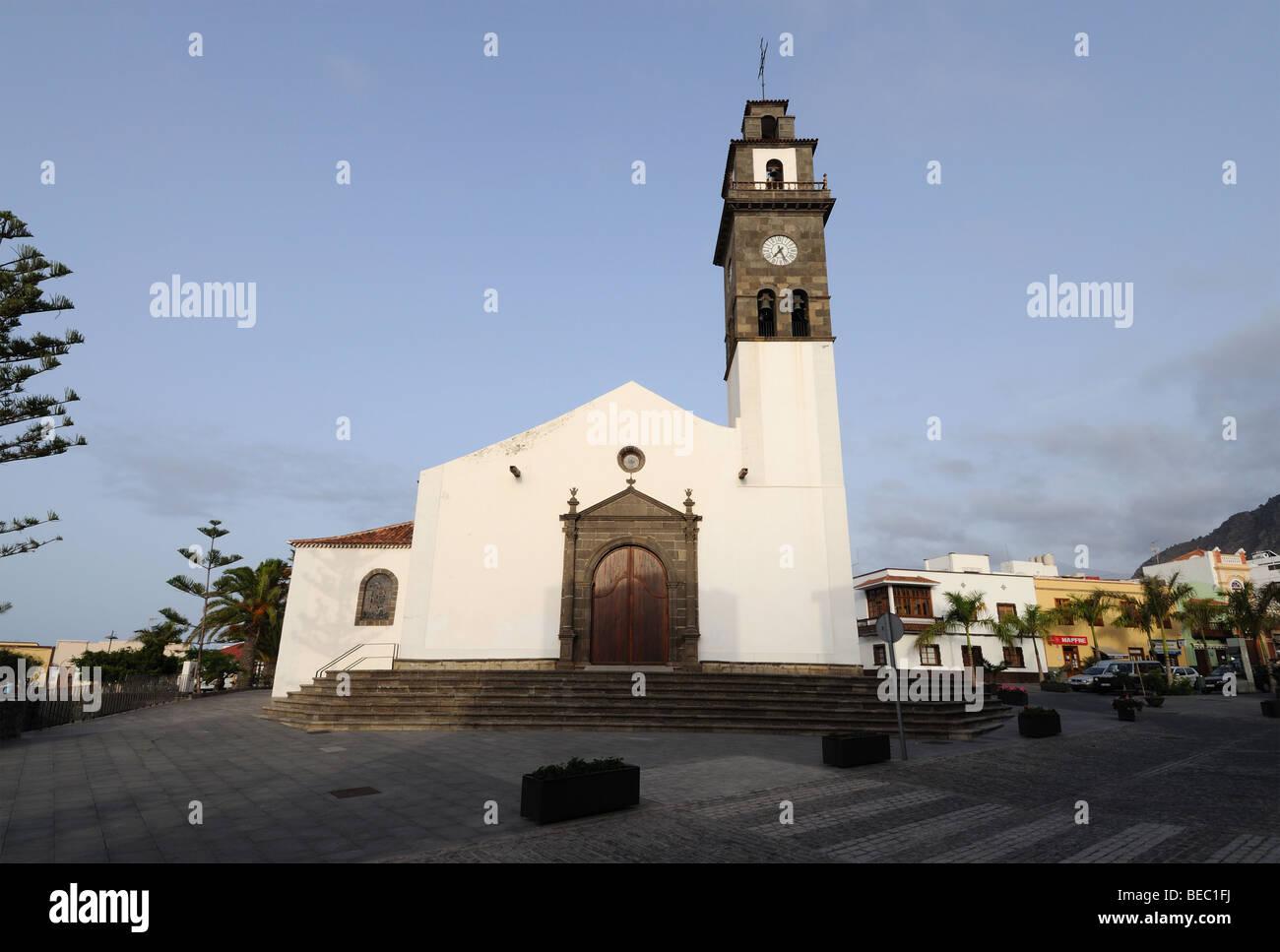 Kirche in Buenavista del Norte, Kanarische Inseln-Teneriffa, Spanien Stockfoto